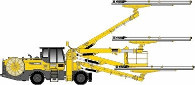 Atlas Copco Boomer WE3 C - COP 3038 Face drilling rig