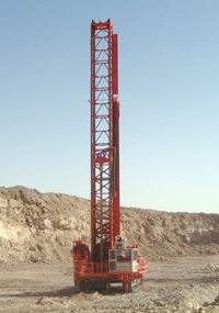 Sandvik D90KS diesel powered self propelled crawler mounted blasthole drill