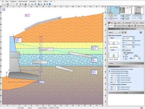 Geo Wall Software Geotechnical Design Software Earth Retaining