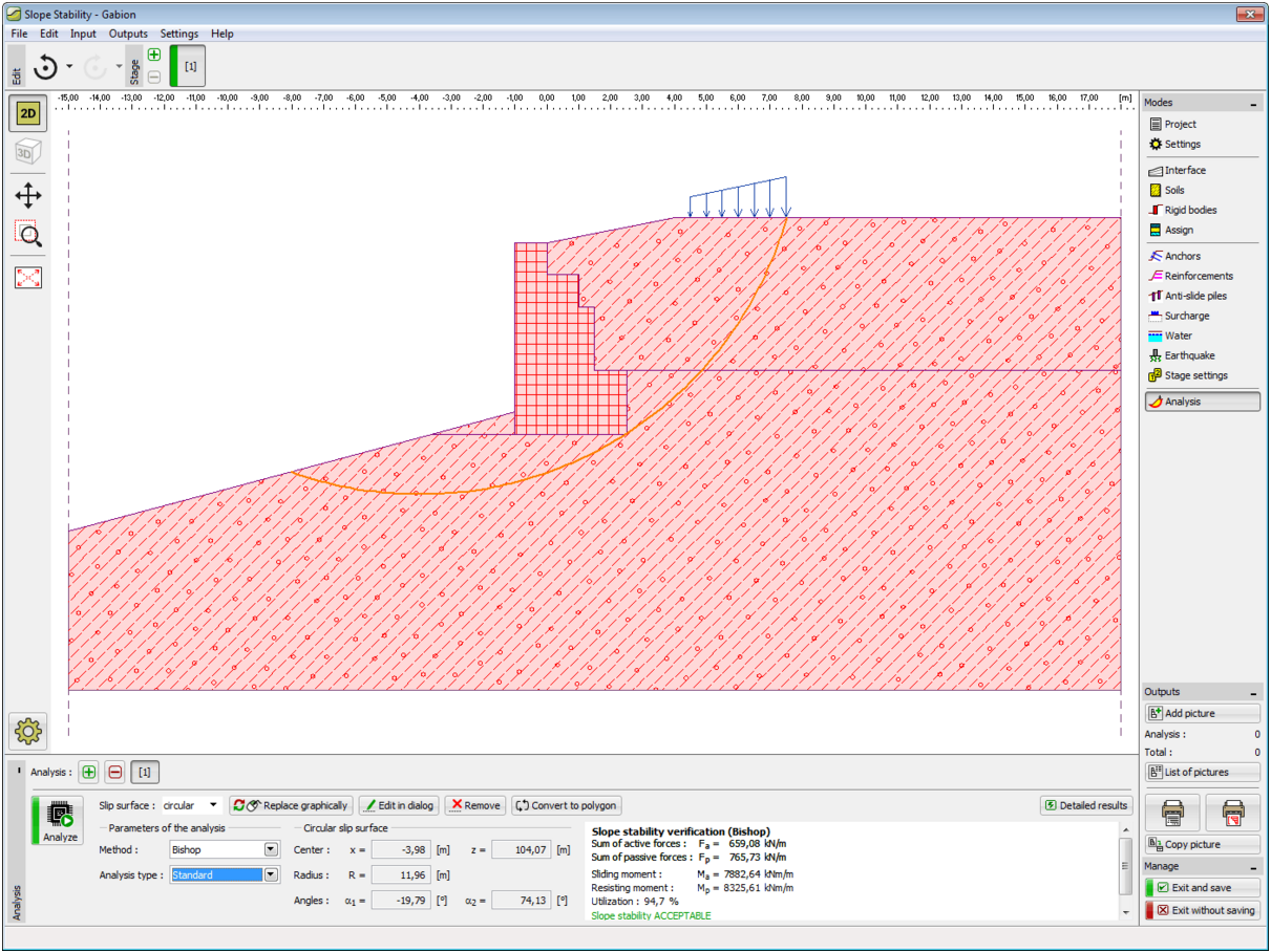Gabion GEO5 Geotechnical Design Software Earth Retaining