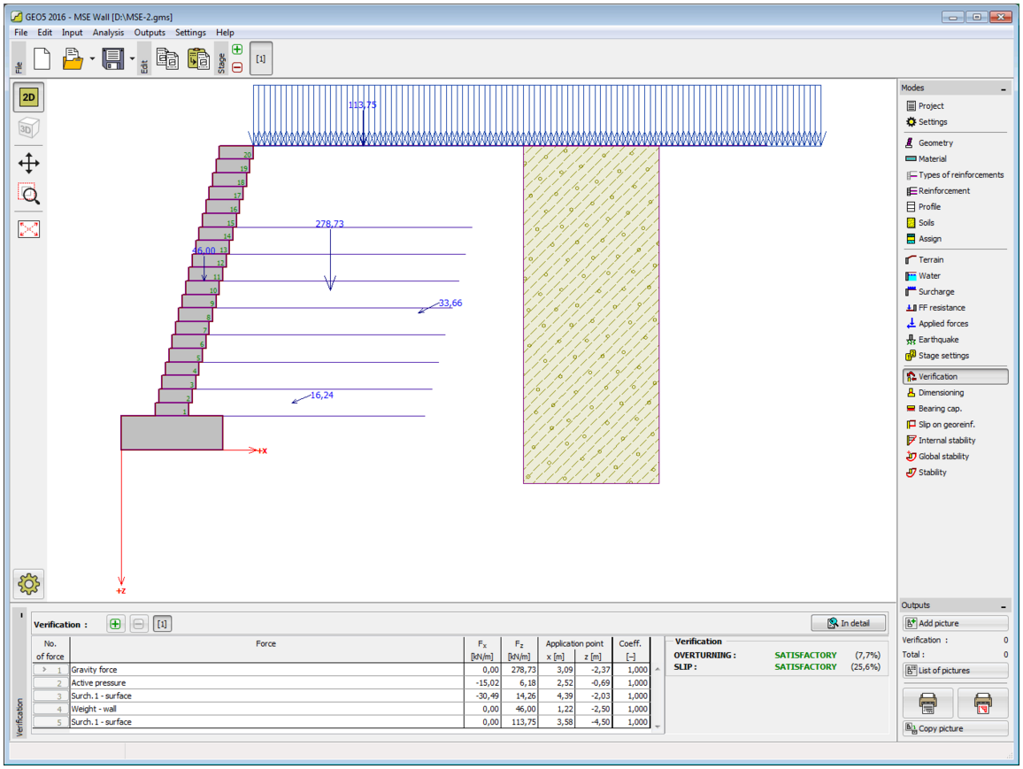 Mse Wall Design mse wall -geo5 [geotechnical design software - reinforced soil