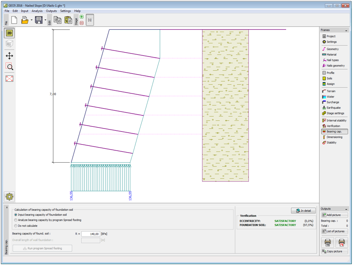 Nailed Slopes  GEO5 [Geotechnical Design Software   Slope Stability ... Wall  Design Soil Nail ...