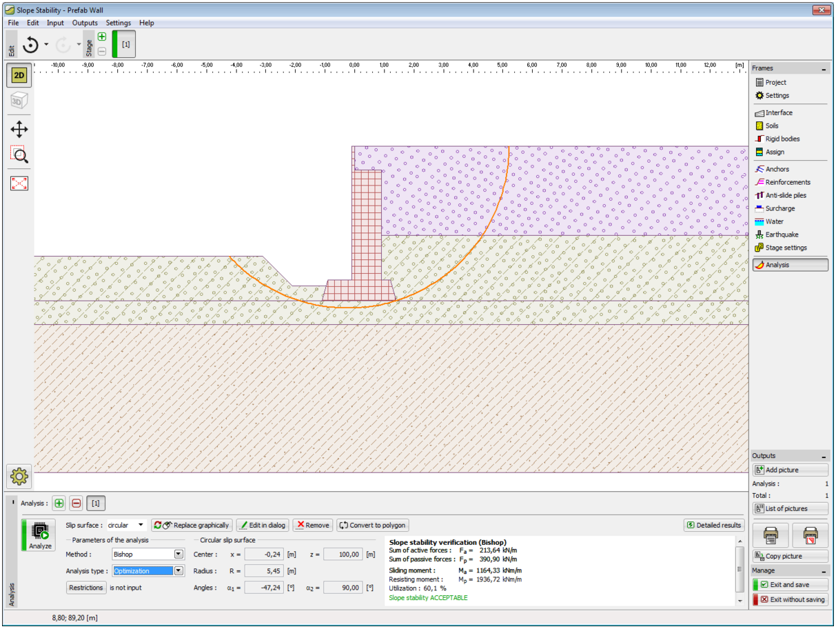 Prefab Wall GEO5 Geotechnical Design Software Earth Retaining