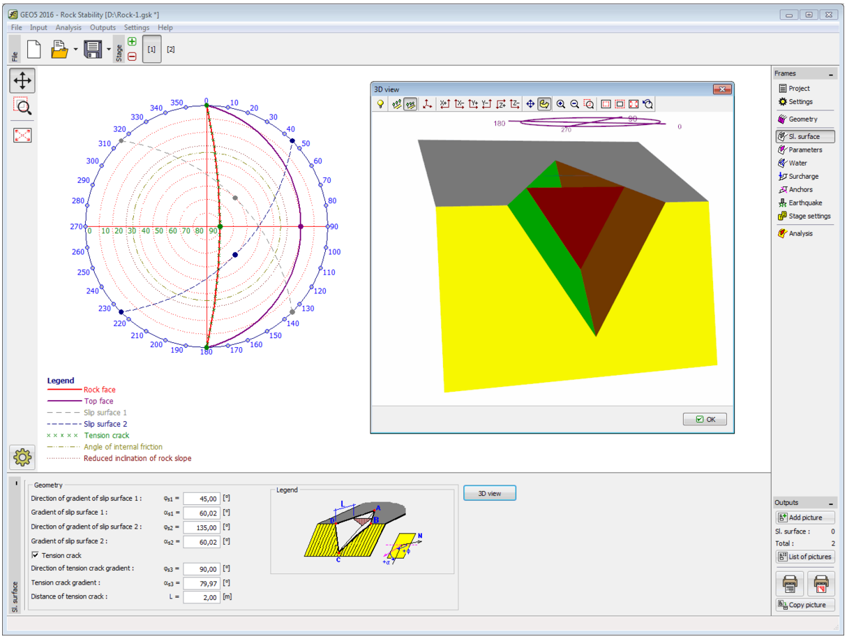 GEO5 Rock Stability [Geotechnical Design Software - Slope
