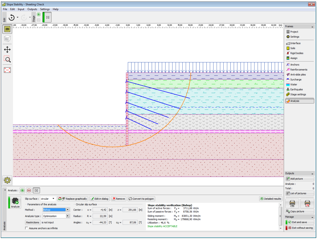 Geo5 Sheeting Check Geotechnical Design Software Earth