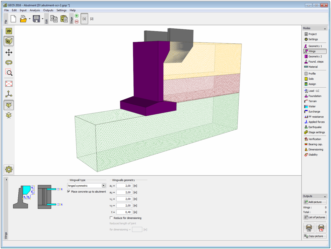 GEO5 Abutment [Geotechnical Design Software - Earth