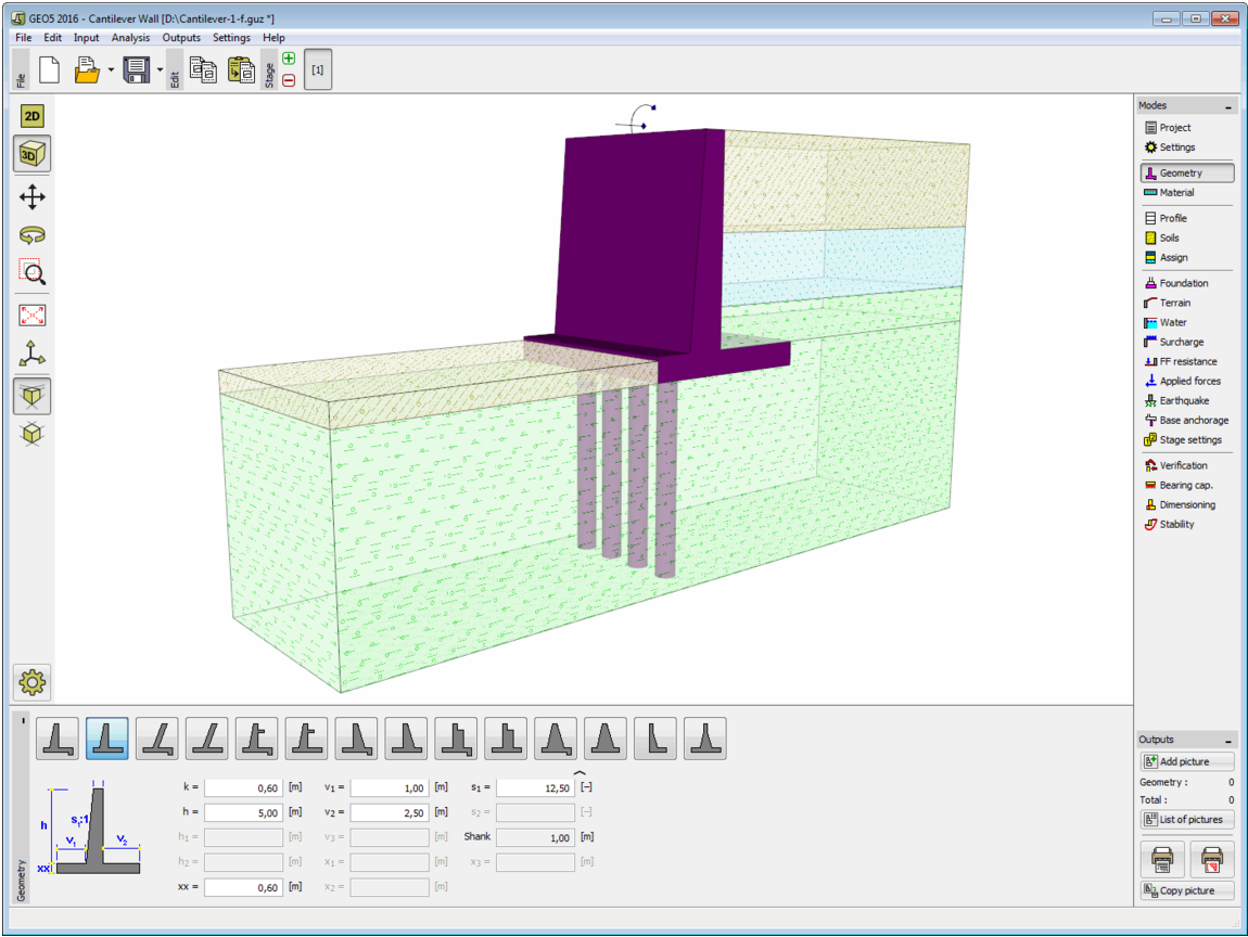 GEO5 Cantilever Wall [Geotechnical Design Software - Earth Retaining