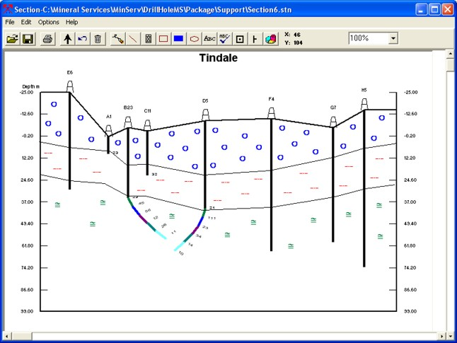 DrillHoleMS FEATURES [Geology Software - Graphical Data