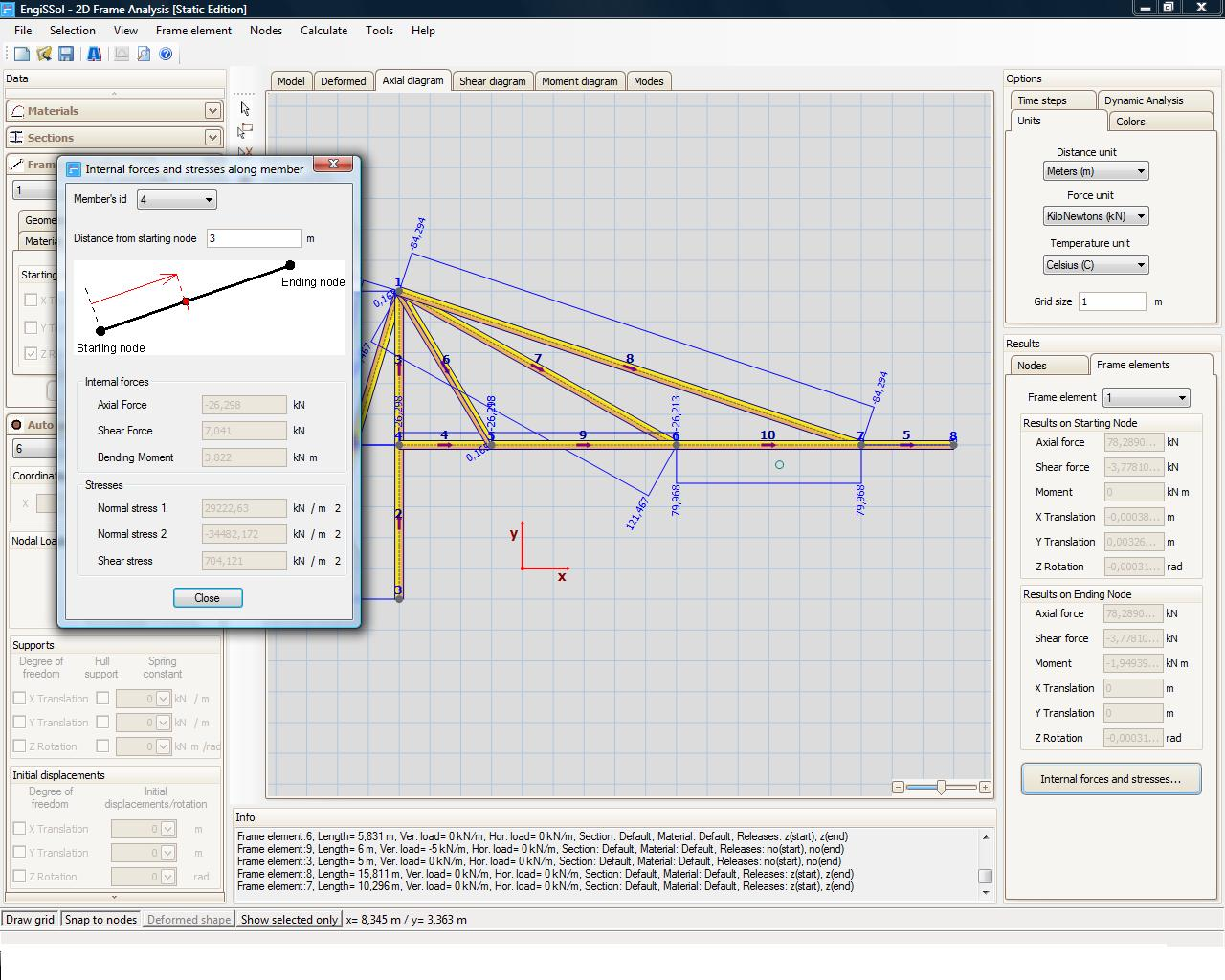 2D Frame Analysis Static Edition [Structural Software